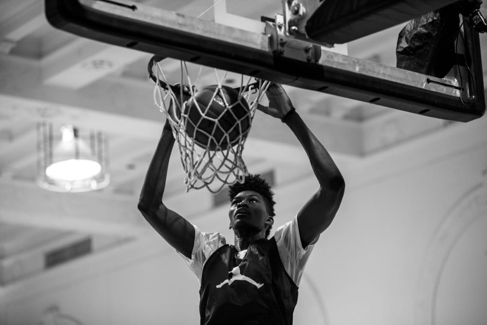 The Jordan Brand Classic practice at Terminal 23 in New York City, New York on April 14, 2016. (Photo by Taylor Baucom/The Players' Tirbune)