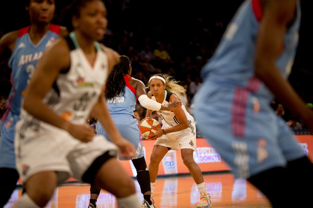 New York Liberty versus Atlanta Dream at Maddison Square Garden in New York City on August 21, 2015. The Liberty won 78 to 68. (Photo by Annie Flanagan/The Players Tribune)