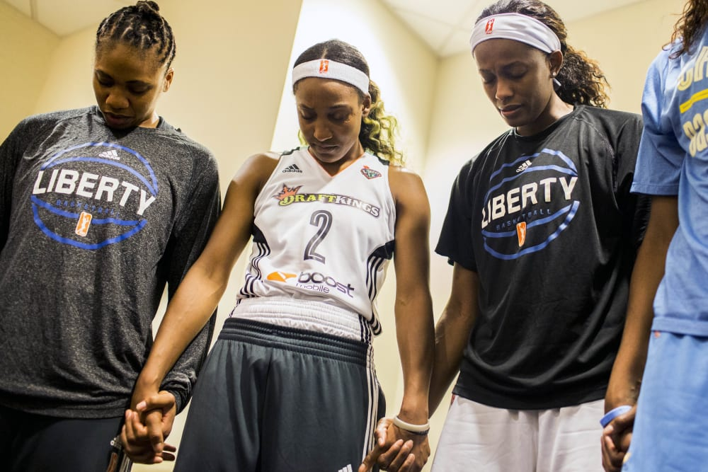 The NY Liberty lost to the Chicago Sky on 60 to 82 on September 3, 2015 at Madison Square Garden. (Photo by Annie Flanagan for The Players Tribune)