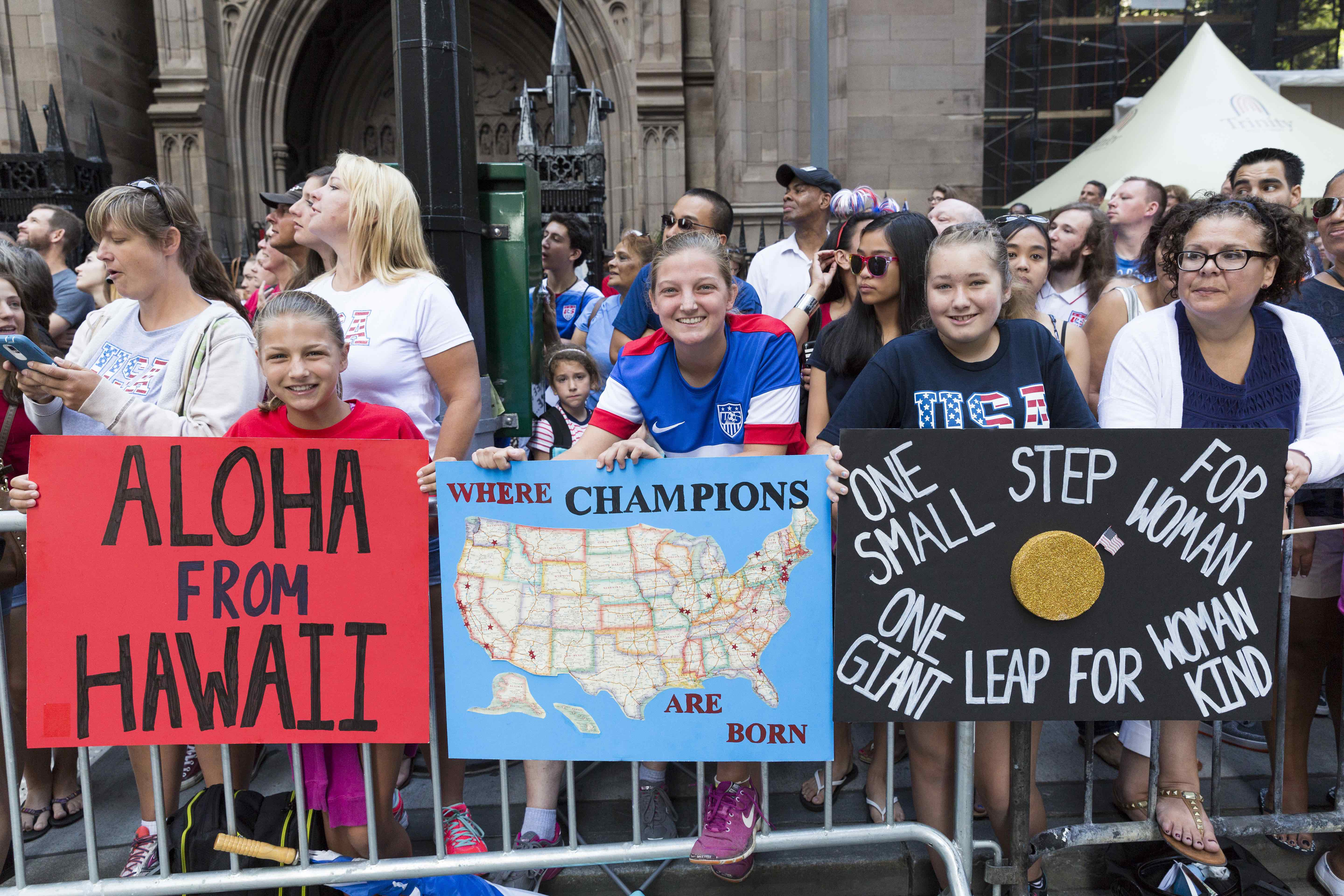 US Women's National Team Canyon of Heroines Parade