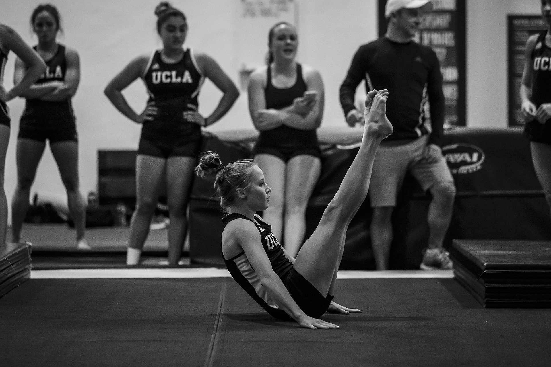 Olympic Gold medalists Madison Kocian and Kyla Ross on campus at UCLA on October 21, 2016 in Los Angeles, California. (Photo by Carlos Gonzalez/The Players' Tribune)