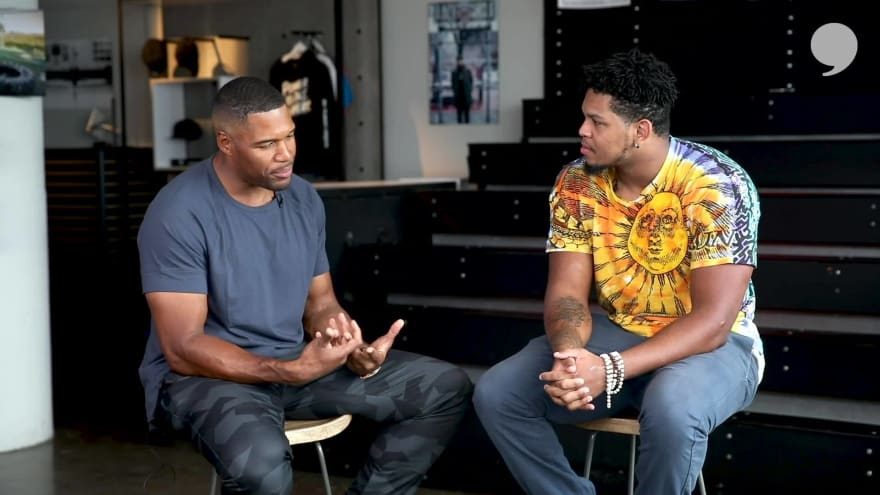 Michael Strahan and Marcus Davenport Talk All Things NFL