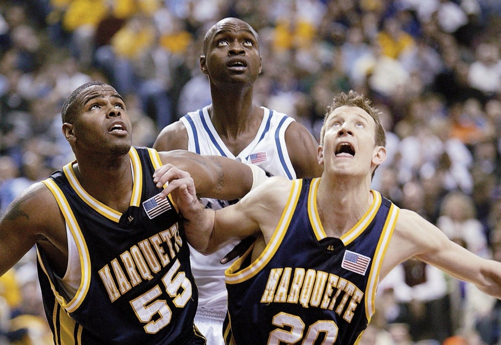 Marquette's Robert Jackson and Steve Novak, 2003 NCAA Playoffs