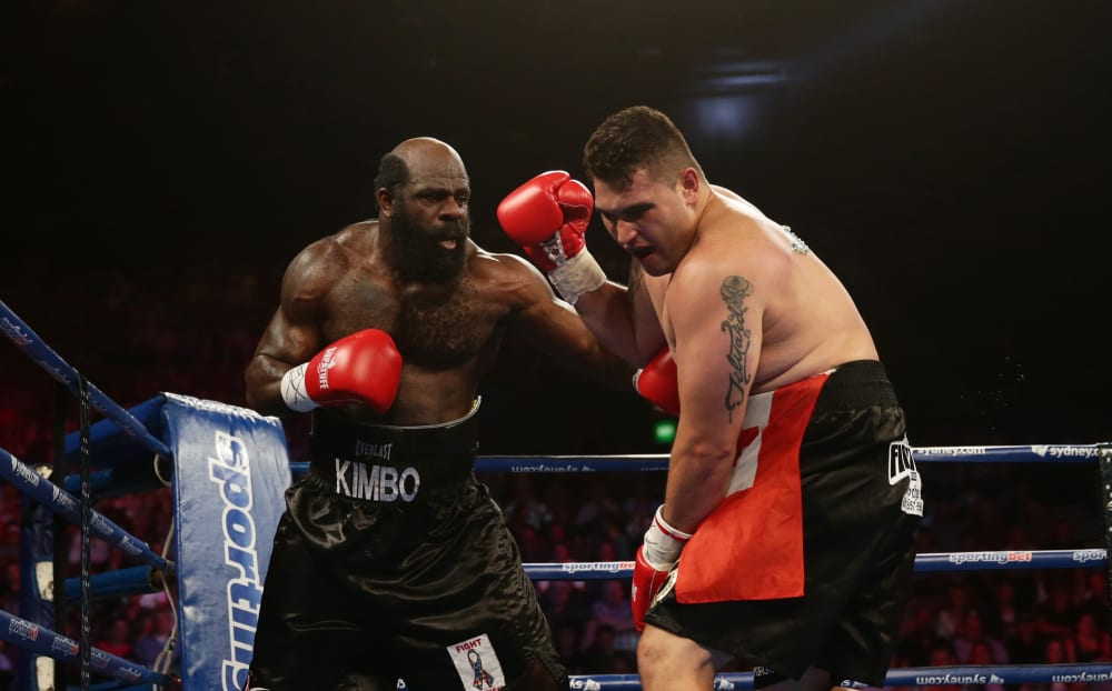 Kimbo Slice v Shane Tilyard, heavyweight boxing match, Sydney, Australia - 30 Jan 2013