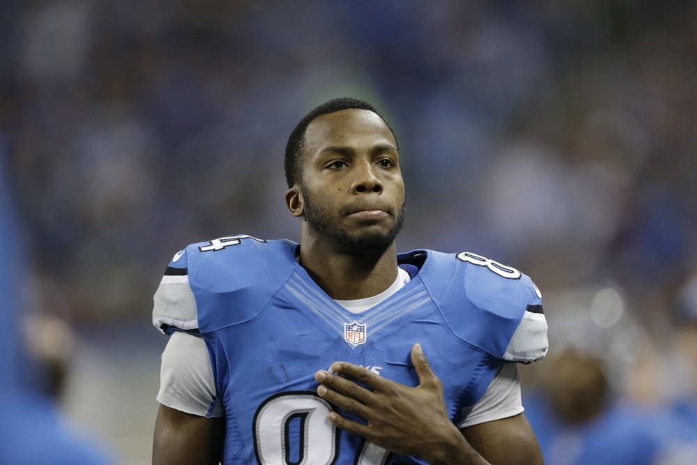 during the second quarter of an NFL football game at Ford Field in Detroit, Sunday, Dec. 2, 2012. (AP Photo/Paul Sancya)