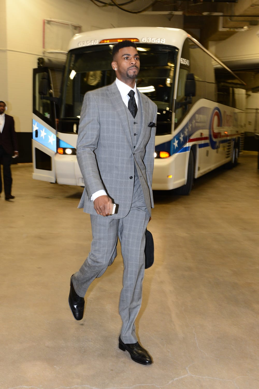 SAN ANTONIO, TX - MAY 8: Dorell Wright #1 of the Portland Trail Blazers arrives at the arena before a game against the San Antonio Spurs in Game Two of the Western Conference Semifinals during the 2014 NBA Playoffs on May 8, 2014 at the AT&T Center in San Antonio, Texas. NOTE TO USER: User expressly acknowledges and agrees that, by downloading and/or using this Photograph, user is consenting to the terms and conditions of the Getty Images License Agreement. Mandatory Copyright Notice: Copyright 2013 NBAE (Photo by Garrett W. Ellwood/NBAE via Getty Images)