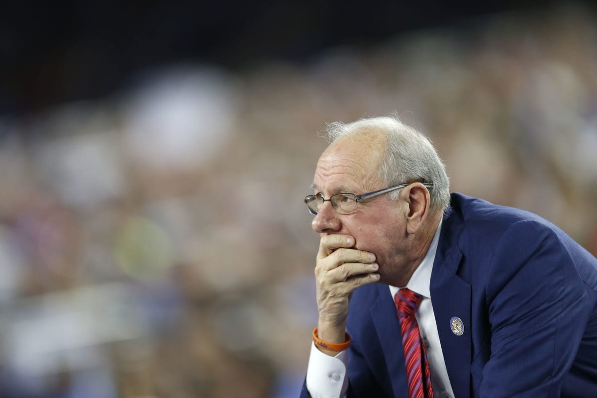 Jim Boeheim as Syracuse takes on North Carolina on April 2, 2016 at the at NRG Stadium in Houston, Tx. (Photo by Jed Jacobsohn for the Players' Tribune)