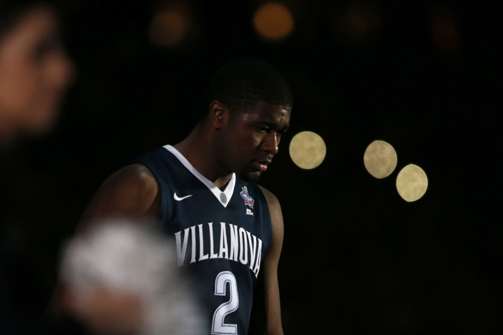 Kris Jenkins pregame as Villanova takes on Oklahoma on April 2, 2016 at the at NRG Stadium in Houston, Tx. (Photo by Jed Jacobsohn for the Players' Tribune)