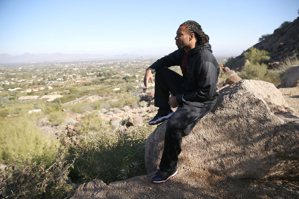 Larry Fitzgerald of the Arizona Cardinals on December 29, 2015 in Phoenix, Arizona. (Photo by Jed Jacobsohn/The Players Tribune)