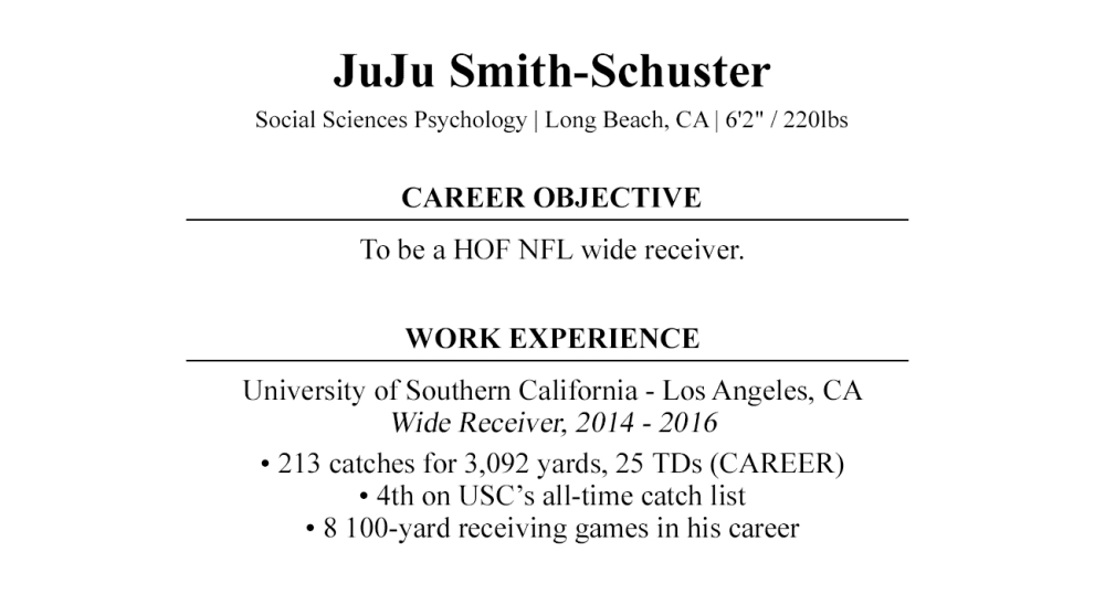nfl draft cover letter by juju smith schuster