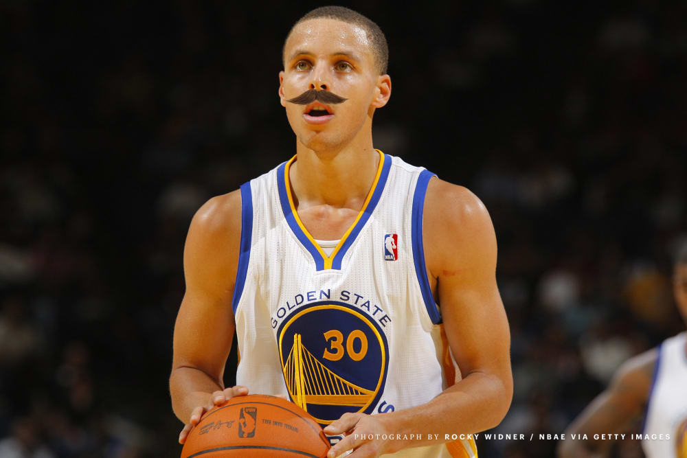 Steph Curry Mustache