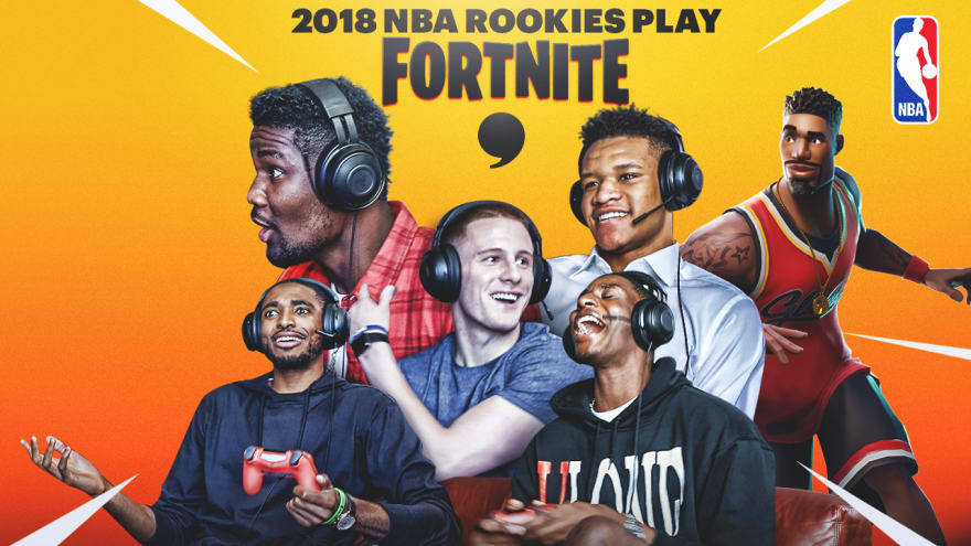 2018 NBA Rookies Play 'Fortnite'